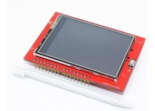 Tela Display Lcd Tft 2.4 Touch Screen Shield C/ Caneta