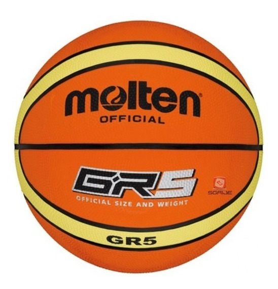 Balón Basquetbol Bgr5 X Giugiaro Hule N.5 Molten, Sgaije