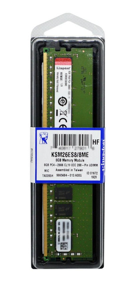 Memória RAM 8GB 1x8GB Kingston KSM26ES8/8ME