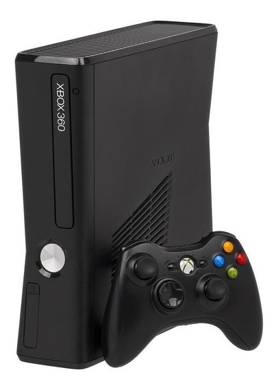 Xbox 360 Slim + Kinect + 1 Controle + 10 Jogos