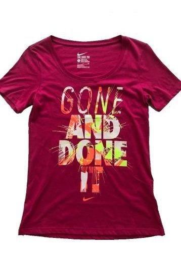 Camiseta Blusa Feminina Nike Gone And Done It Rosa Original