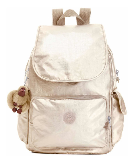 Mochila Kipling Original City Pack Dorado
