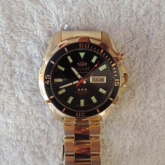 Relógio Orient Automático 469gp078 Masculino Dourado Lindo