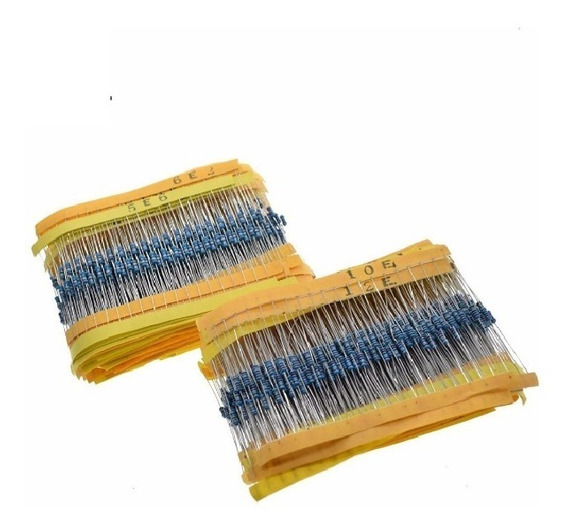 Kit 2600 Resistores, 1/4w 1%, 130 Valores
