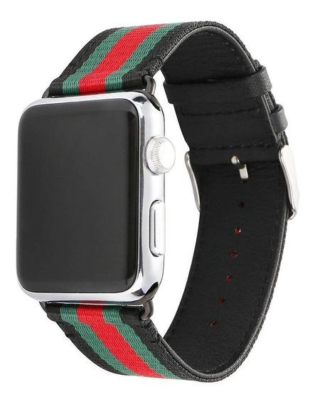 Correa De Cuero De Nylon Para Reloj Apple 38/40,42/44mm