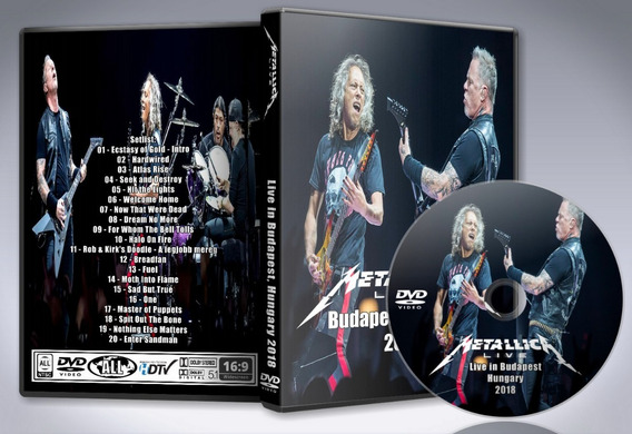 Dvd Metallica - Live In Budapest 2018