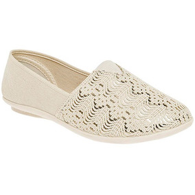 Zapatos Casual Flats Tovaco Dama Textil Beige 00095 Dtt