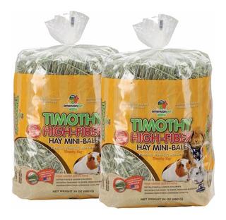 2 Pack Heno Timothy American Pet El Mejor Heno Para Tu Conejo Chinchilla Cuyo Pues No Contiene Alfalfa, Envío Incluido