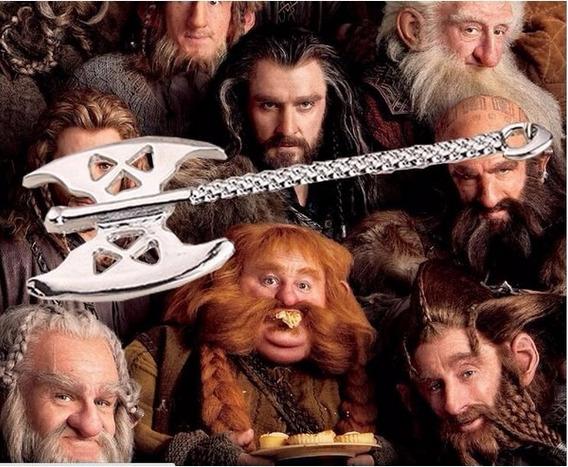 Colar Unissex Hobbit Senhor Dos Anéis Pingente Machado