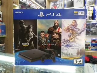Ps4 Slim 1tb Playstation 4 Consola + 3 Juegos + Garantia