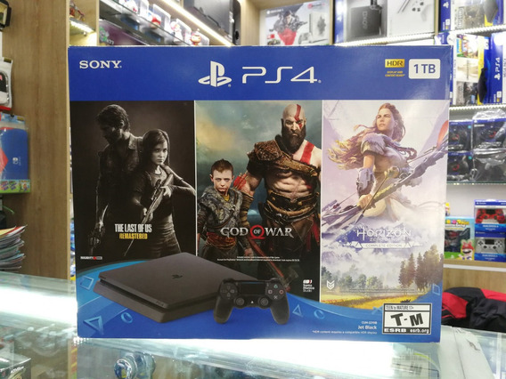 Ps4 Slim 1tb Playstation 4 Consola + 3 Juegos + Garantia