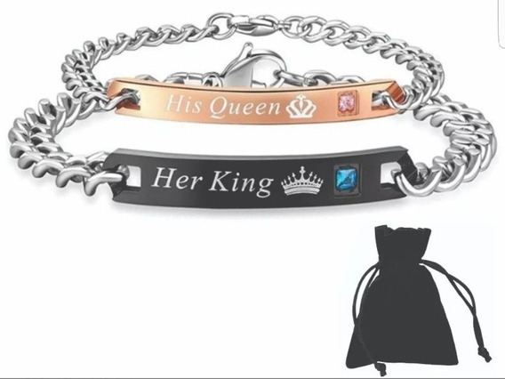 Pulsera His Queen Her King, His Beast Her Beauty