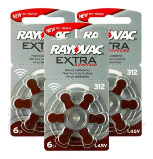 Pilas Para Audifonos Rayovac Extra 312 Blister X 6u Vto 2023