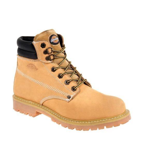 Bota Corta Industrial Dickies 1010 Amarillas Comodas