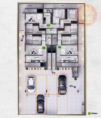 Casa Com 2 Dormitórios À Venda, 47 M² Por R$ 260.000 - Mirim - Praia Grande/sp - Ca1361