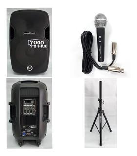 Cabina Activa 15 Soundpower Top Pack Incluye Base+microfono