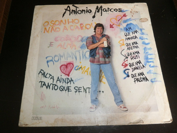 Capa Lp Antonio Marcos - O Sonho Não Acabou, Vinil - Obs