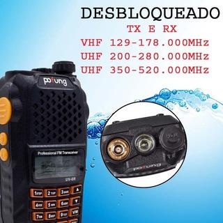 Baofeng Uv-6r Desbloqueado + Fone De Ouvido E Microfone
