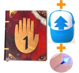 Gravity Falls Diario 1 + Gorra Dipper + Pluma Tinta Invisibl