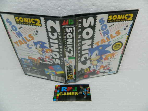 Sonic 2 Original Japonesa C/ Caixa P/ Mega Drive - Loja Rj