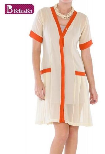 Vestido Chemisier Seda Pura -marca Belle & Bei