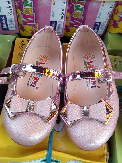 Balerinas De Niña Color Plata Rosadas Talla 23-31 Zapatillas