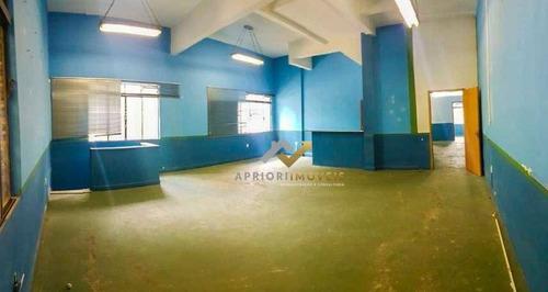 Salão Para Alugar, 160 M² Por R$ 6.000/mês - Centro - Santo André/sp - Sl0003