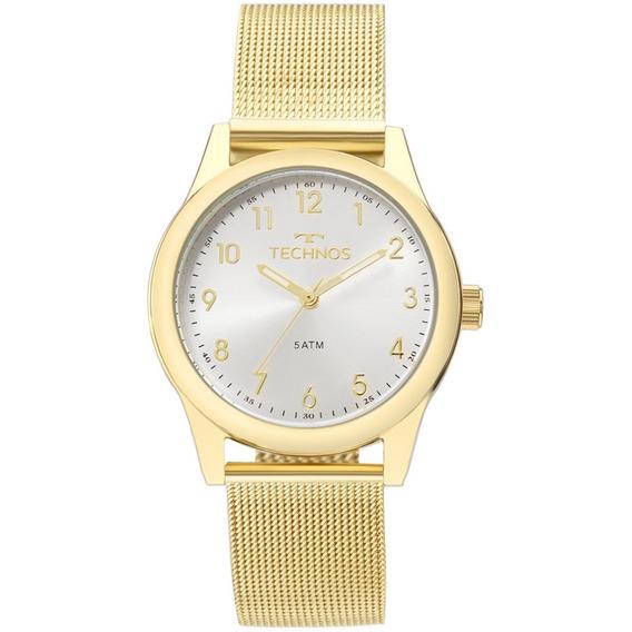 Relógio Technos Dourado Feminino Boutique 2035mkl/4k