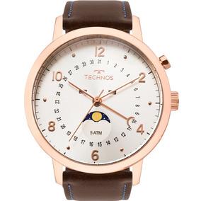 Relógio Technos Masculino Calendário Lunar 6p80ad/2b Orginal