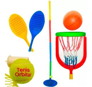 Tenis Orbital + Complemento Basket Juegos Basquet Y Tenis!