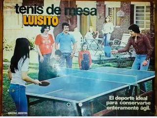 Antiguo Tenis De Mesa Luisito Ping Pong Circa 1980