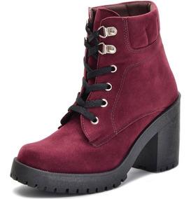 89325891be Bota Salto Alto Vinho - Sapatos com o Melhores Preços no Mercado ...