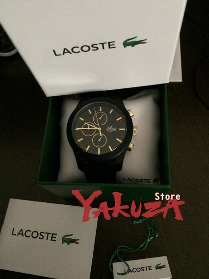 Relógio Lacoste Preto E Ouro Original Comprado No Japão