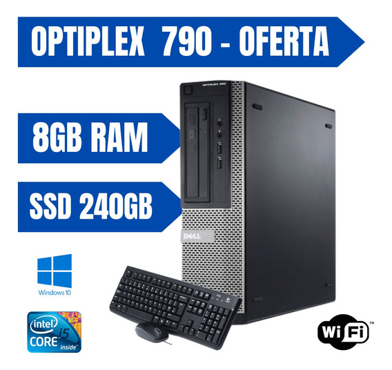 Cpu Dell 790 I5 8gb 240gb De Ssd Windows 10 - Teclado&mouse
