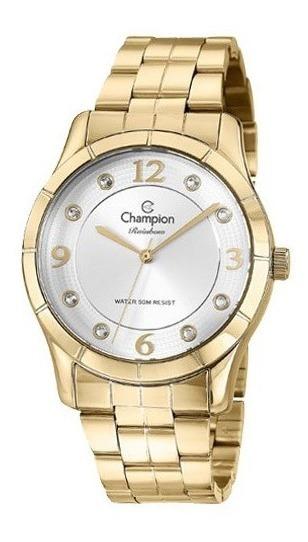 Relógio Champion Dourado Feminino Passion Cn29909h