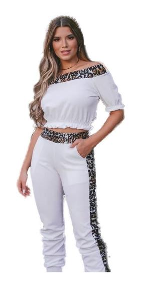 Promoção Blackfr Conjunto Feminino Calca Skinny Cropped