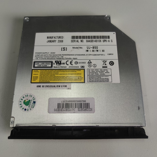 Drive Dcd/cd Notebook Mod: Uj-850 - Vsp-010