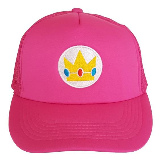 Gorra Trucker Princess Peach M Mario Bros, Luigi, Bordada