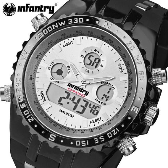 Relógio Masculino Infantaria Original 30m Frete Grátis