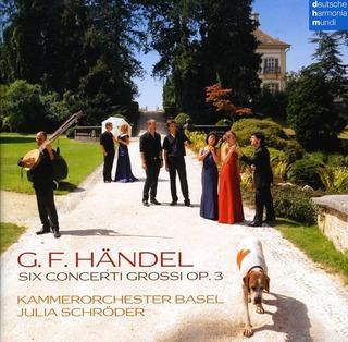 Cd Kammerorchestre Basel Handel Concerti Grossi Op3 1