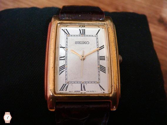 Elegante Reloj Seiko Quartz Vintage Dorado