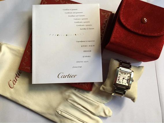 Relógio Cartier Tank Francaise Gde/data Em Aço Automatico