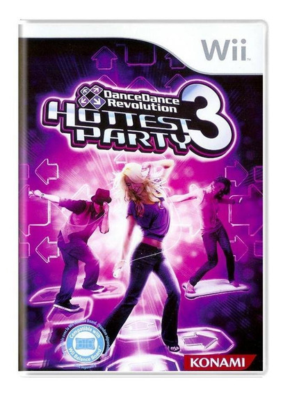 Dance Dance Revolution Hottest Party 3 Wii Mídia Física