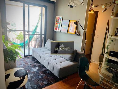 Apartamento Com 1 Dormitório À Venda, 38 M² Por R$ 456.000,00 - Chácara Santo Antônio - São Paulo/sp - Ap47666