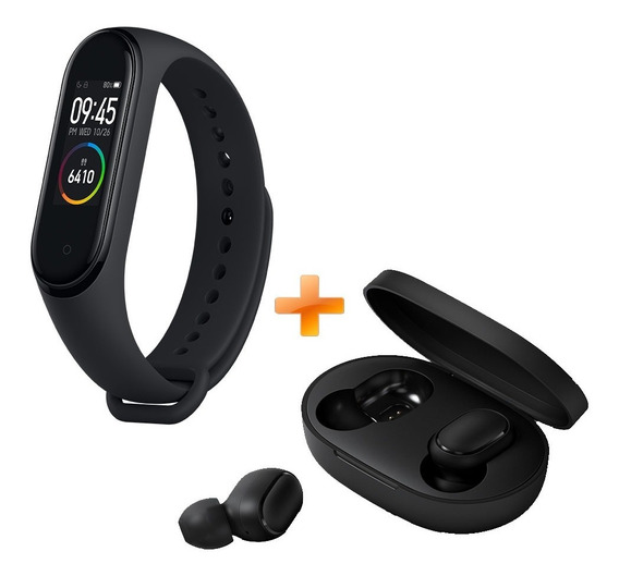 Mi Band 4 + Audífonos Mi True Wireless Earbuds Basic Xiaomi