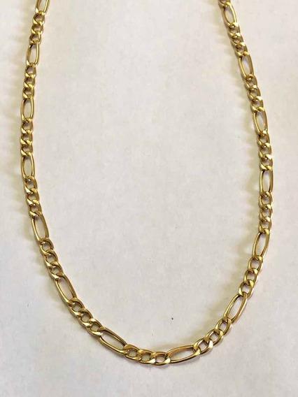 Corrente 3x1 60 Cm Poderosa Ouro 10k 416 Linda