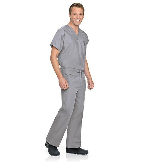 Pantalón Unisex Reversible Marca Landau Color Gris Claro