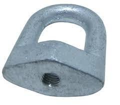 10x Olhal Reto P/ Rosca M12(aço Galvanizado)