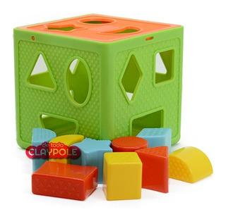 Cubo Didáctico Con Formas Encastre Primera Infancia Duravit