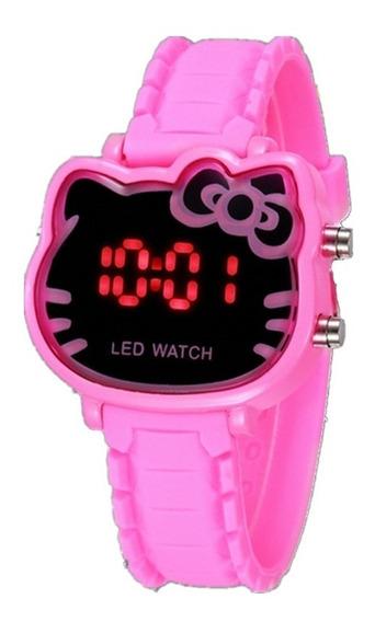 Relógio Infantil Meninas Hello Kitty Led Digital Barato